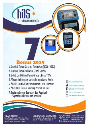 Has Environmental Promo 2019 For Sampling Pump!!
