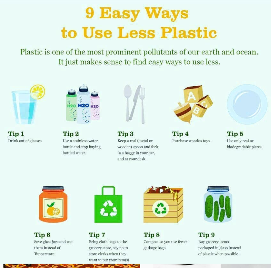 Save Environment. Reduce Plastic!!