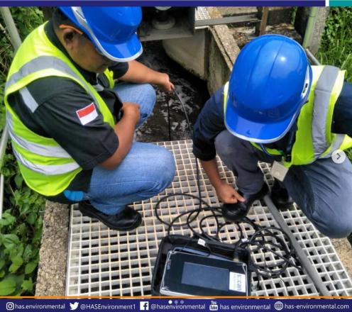 PT Has Environemental melakukan survei monitoring air online