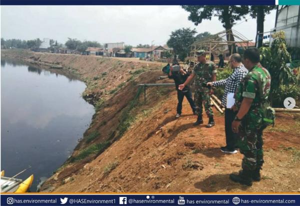 Survey lokasi instalasi alat sensor pemantau kualitas air citarum di Sektor 7