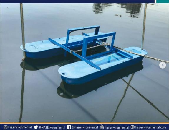 Ponton / buoy dari PT Has Environmental untuk Onlimo (Online Monitoring)