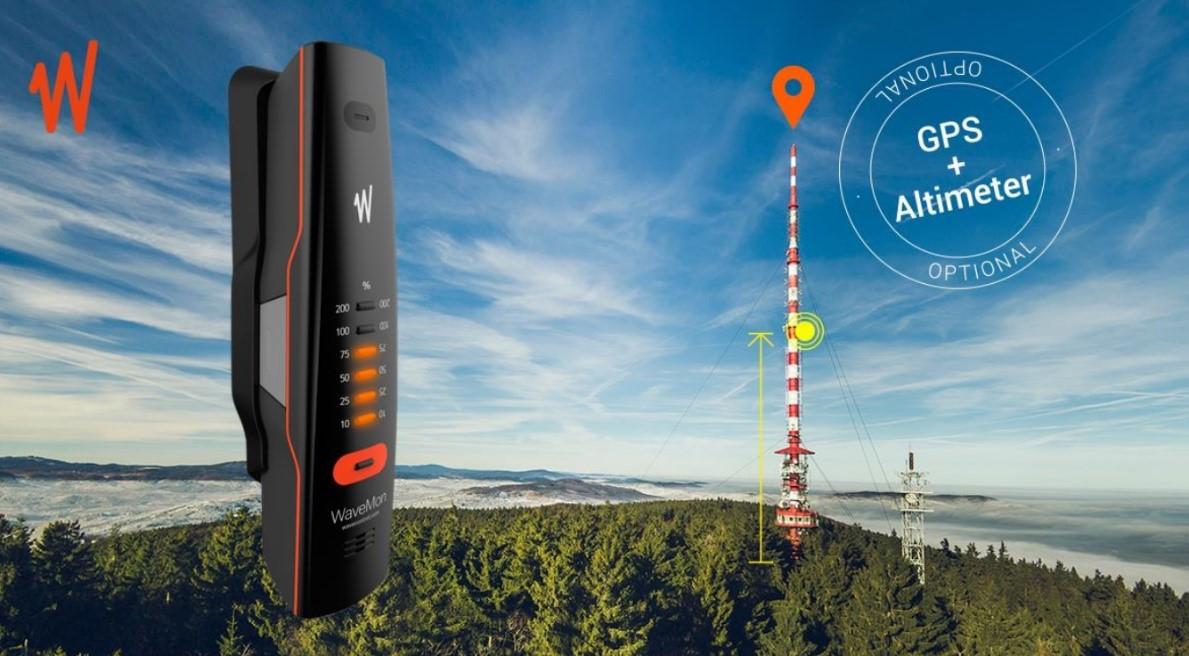 WaveMon Monitor RF dilengkapi dengan GPS dan Altimeter