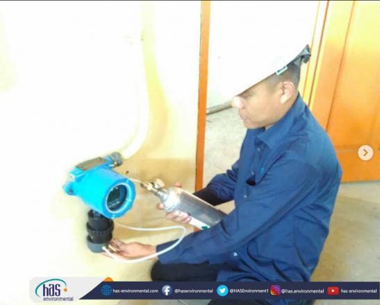 """Pemasangan alat monitoring gas """"SensAlert"""""""