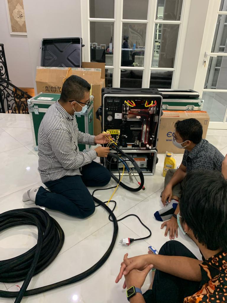 Training alat Sampling Isokinetic bersama PT Pupuk Kaltim